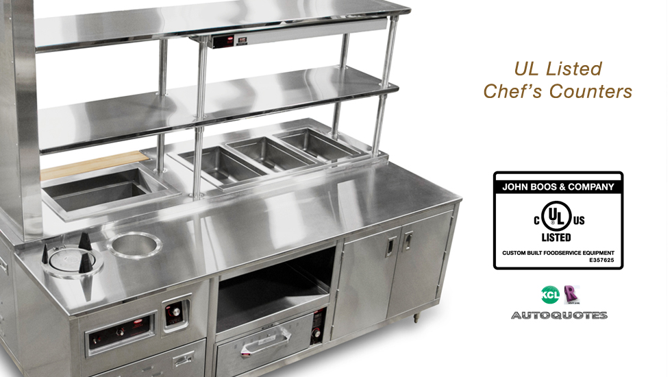 UL LISTED CHEFS COUNTER